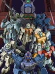Giant Mecha Mobile Suit Gundam GM  II III Commando Sniper Custom Jegan EXAM Space Runaway Ideon