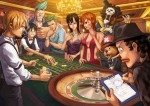 One Piece Ruffy Nami Robin Franky Chopper Lorenor Zorro Sanji Brook Lysop Casino Roulette Anzug Krawatte Fliege Kleid