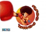 One Piece Ruffy Afro Boxen