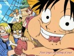 One Piece Ruffy Nami Lorenor Zorro Sanji Essen Fleisch Streit