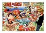 One Piece Ruffy Nami Robin Chopper Lorenor Zorro Sanji Lysop Essen Hot Dog Tier Hund grillen Picknick