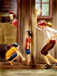 One Piece Ruffy Ace roter Shanks Strohhut