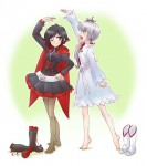 RWBY Ruby Rose Weiss Schnee Red White